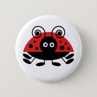 Hello Ladybug Pinback Button