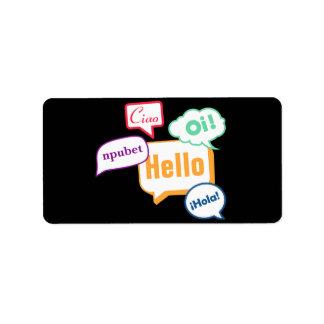 Hello | Languages Label
