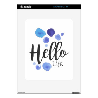 Hello Life Beauty Promo Sign Watercolor Stylized H Decal For The iPad