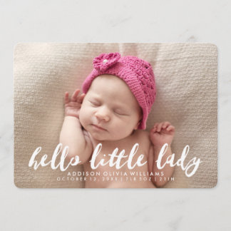 Hello Little Lady | Photo Birth Announcement