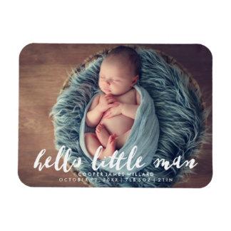 Hello Little Man | Photo Birth Announcement Magnet