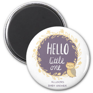 Hello Little One Owl Baby Shower Favor Magnet