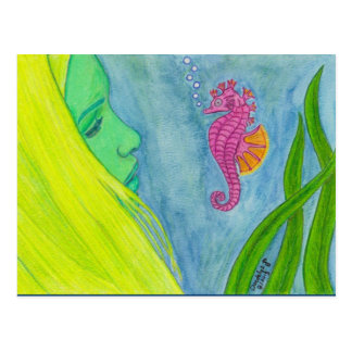 """""""Hello, Little Seahorse"""" by Daedelys Post Cards"""