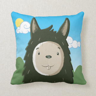 Hello Llama Throw Pillow