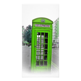 Hello london telephone booth card