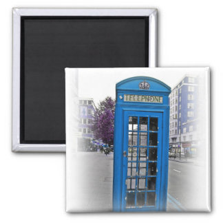 Hello London telephone booth 2 Inch Square Magnet