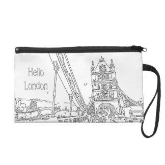 Hello London UK Bagettes Bag Wristlet Purse