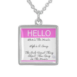 Hello Love s The Music Poem Jewelry