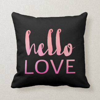 Hello Love Throw Pillow 01