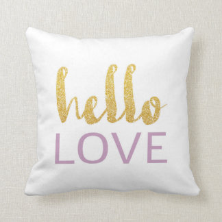 Hello Love Throw Pillow 02