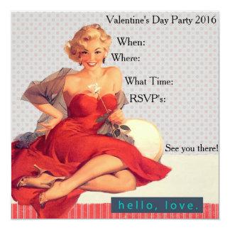 Hello Love Valentine's Day Party 2016 Invitation