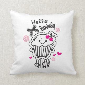 Hello Lovely Pop Art Pillow.