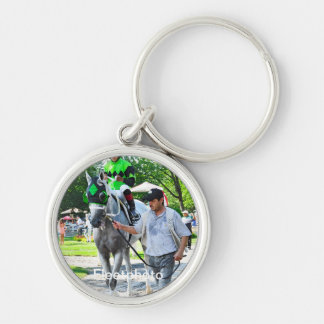 Hello Lover with Irad Ortiz Jr. Silver-Colored Round Keychain