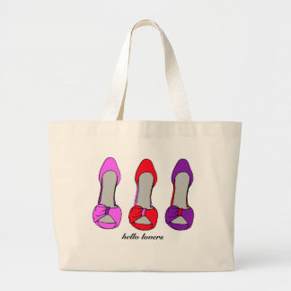 Hello Lovers - High Heel Shoe Obsession Large Tote Bag