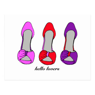 Hello Lovers - High Heel Shoe Obsession Postcard