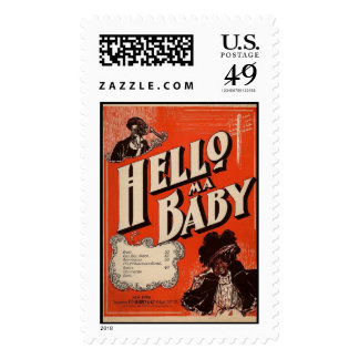 Hello Ma Baby Music Postage Stamps