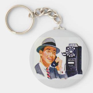 Hello, Mabel? It's Tony. Basic Round Button Keychain