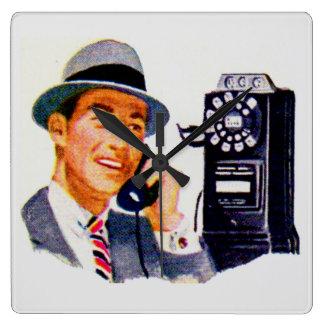 Hello, Mabel? It's Tony. Square Wall Clock