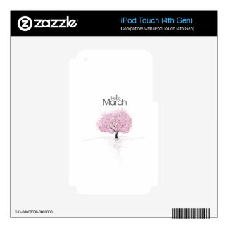 Hello March! Spring Is Here! iPod Touch 4G Skins