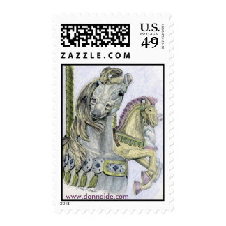 'Hello'  Merry-Go-Round US Postage Stamp