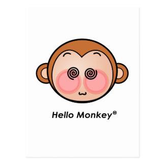 Hello Monkey dazzling Postcard
