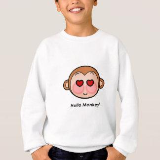 Hello Monkey heart eyes Sweatshirt