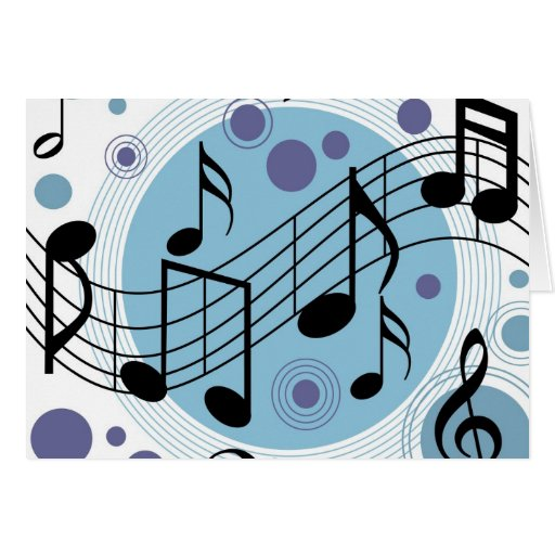 hello music stationery note card