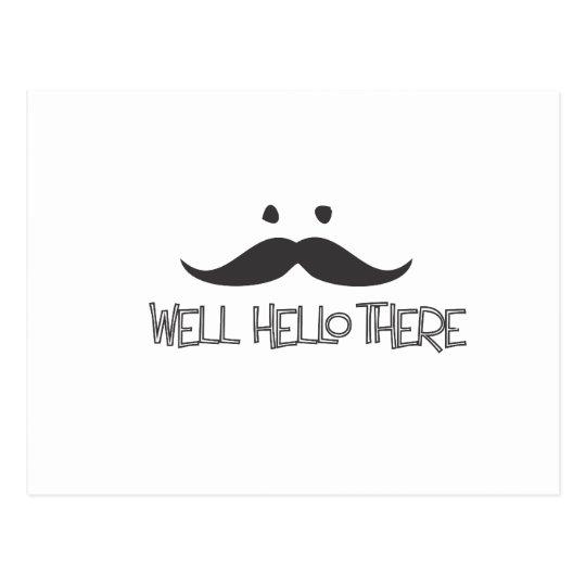 Hello Mustache Postcard