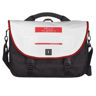 Hello My Gender Is . . . Commuter Bag