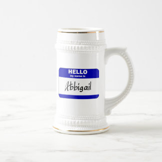 Hello My Name Is Abbigail (Blue) Mugs