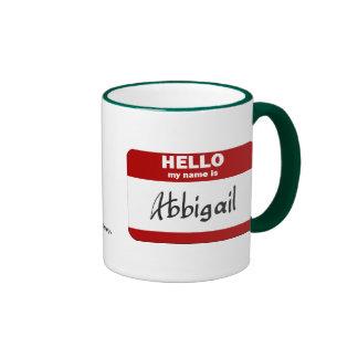 Hello My Name Is Abbigail (Red) Mug