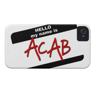 Hello My Name is ACAB iPhone 4 Covers