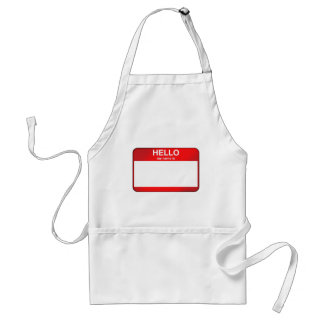Hello My Name Is... Adult Apron