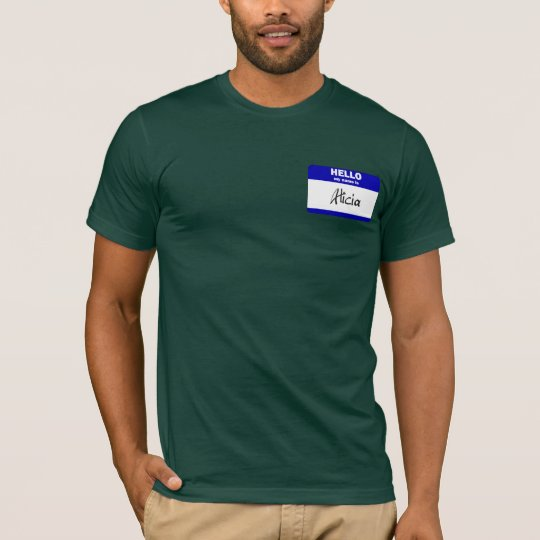 Hello My Name Is Alicia (Blue) T-Shirt