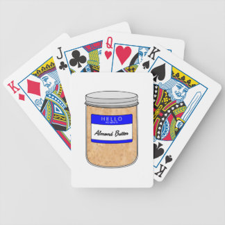 Hello My Name is Almond Butter Bicycle Playing Cards
