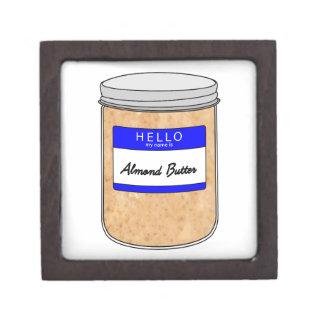 Hello My Name is Almond Butter Keepsake Box