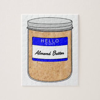 Hello My Name is Almond Butter Puzzle