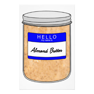 Hello My Name is Almond Butter Stationery
