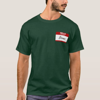 Hello My Name Is Alonzo (Red) T-Shirt