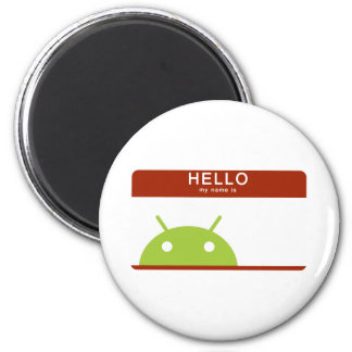 hello my name is Android 2 Inch Round Magnet