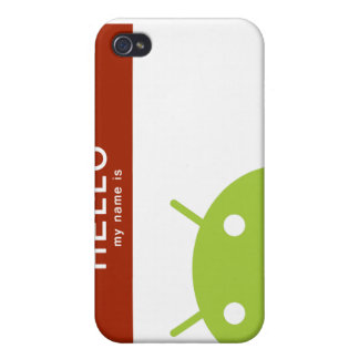 hello my name is Android iPhone 4 Case