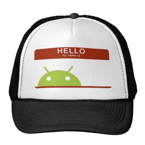 hello my name is Android Trucker Hat