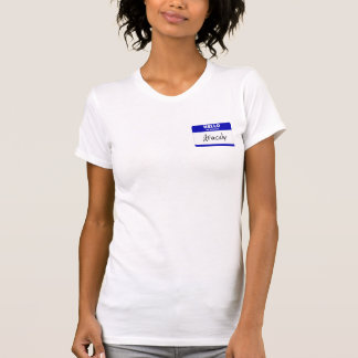 Hello My Name Is Aracely (Blue) T-Shirt