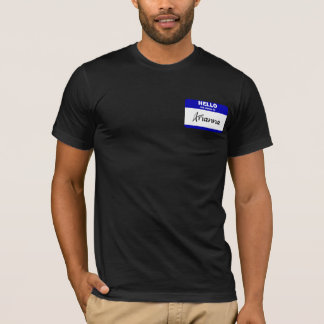 Hello My Name Is Arianna (Blue) T-Shirt
