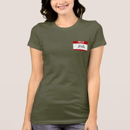Hello My Name Is Arielle (Red) T-Shirt
