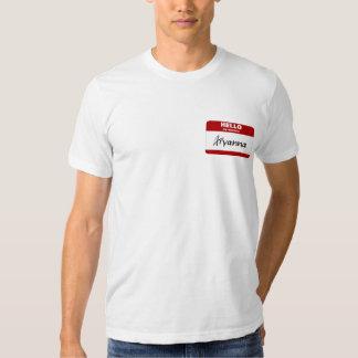 Hello My Name Is Aryanna (Red) Tee Shirt
