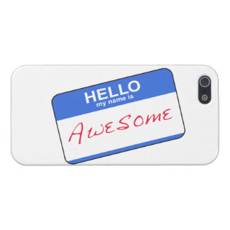 Hello My Name Is Awesome iPhone 5 Case (Blue)