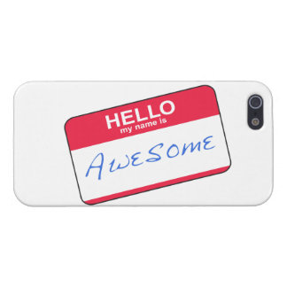 Hello My Name Is Awesome iPhone 5 Case (Red)