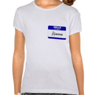 Hello My Name Is Ayanna (Blue) T Shirts