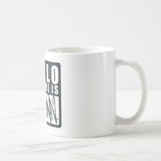 Hello My Name is Batman Classic White Coffee Mug